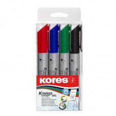 Набор маркеров для флипчарта  Kores (4шт/уп/3мм)