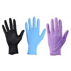 Перчатки  нитриловые неопудренные (10 шт/уп) ассорти
