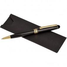 Ручка шариковая подарочная Verdie Ve-100 Luxe синяя черный корпус (золото)