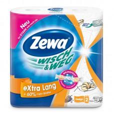 Полотенца бумажные Zewa W&W белые с рисунком и тиснением, 2-сл. (2шт/уп.)