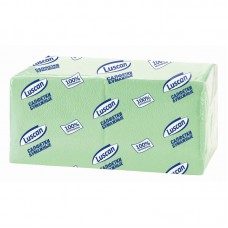 "Салфетки бумажные ""Luscan"" 24*24 (400шт/уп.) зеленые"