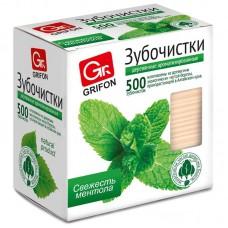 Зубочистки  с ментолом Grifon в индивидуальной упаковке (500 шт.)