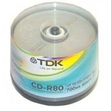 Диск CD-R (50шт/уп.) TDK