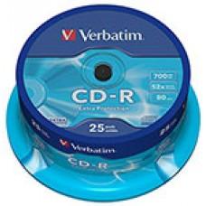 Диск CD-R (25шт/уп.) VERBATIM