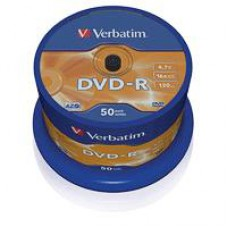 Диск DVD-R (50шт/уп.) VERBATIM 4.7 Гб 16х