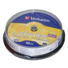 Диск DVD+RW (10шт/уп.) Verbatim 4.7Гб