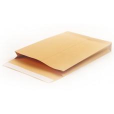 Пакет Крафт 250*353*40 мм В4 силикон с боковым расширением (130 г/кв.м, 200 шт/ уп)