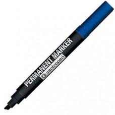 Маркер перманентный Centropen 1-4 мм 8576 скошенный наконечник, синий