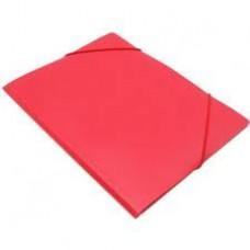 Папка на резинке Attache А4 пластиковая красная (0.45 мм, до 100 листов)