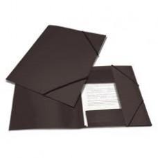 Папка на резинке Attache А4 пластиковая черная (0.45 мм, до 100 листов)