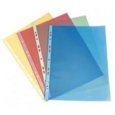 Папка-файл вкладыш цветной А4 синий (100шт/уп)