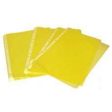 Папка-файл  цветной А4 желтый (100шт/уп.)