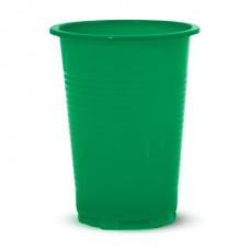 Стакан 0.2 л. одноразовый ,цветной зеленый,красный,синий,желтый (100 шт/уп.)