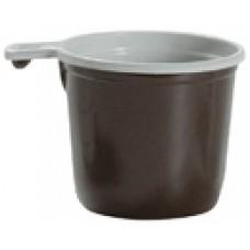 Чашка одноразовая кофейная бело-коричневая (50 шт/уп.)