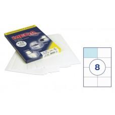 Бумага А4 самокл. *8 шт. на листе 105*74 мм 100 л.