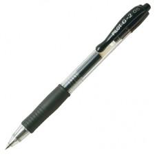 Ручка гелевая Pilot BL-G2-5 автомат с резиновой манжеткой, черная