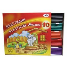 """Пластилин 10 цветов """"ГАММА МУЛЬТИКИ"""" 200гр."""