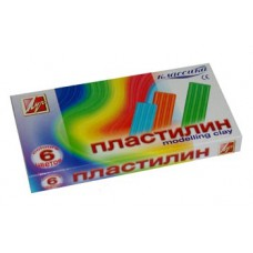 "Пластилин *6 цветов ""Луч"" классика 120гр. + стек"