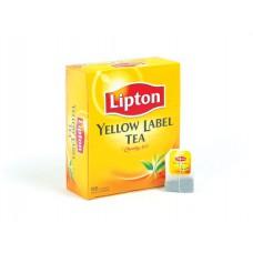 Чай Lipton Yellow Label черный, 100 пакетиков