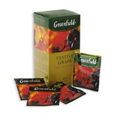 Чай Greenfield Festive Grape, фруктовый, 25 пакетиков (Яблоко, шиповник, гибискус)