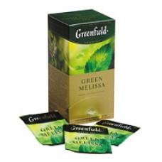 Чай зеленый Greenfield Green Melissa, 25 пакетиков в упаковке (Мелисса, мята)