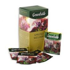 Чай Greenfield Spring Melody черный, 25 пакетиков (Мята, смородиновые листья)