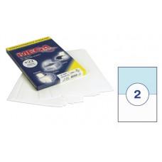 Бумага А4 самокл. *2 шт. на листе 210*148 мм 100 л.