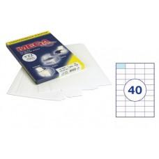 Бумага А4 самокл. 40 шт. на листе 52,5*29,7 мм 100 л.