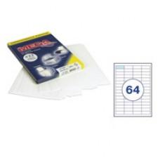 Бумага А4 самокл. 64 шт. на листе 48,5*16,9 мм 100 л.