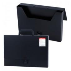 Портфель пластик.  1 отделение  черный
