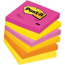 Блок бумаги самокл. 76*76 мм 6 бл./уп. 3М Post-it  Теплая неоновая радуга