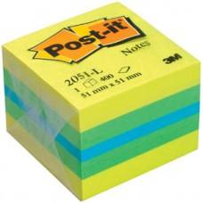 Блок стикеров  51*51мм. 3М Post-it  400 л. Желтый