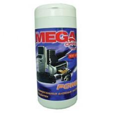 Чистящие салфетки MEGAoffice для пластика 100шт.