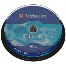 Диск CD-R (10шт/уп.) VERBATIM