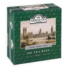 Чай Ahmad Earl grey, черный с бергамотом, 100 пакетиков