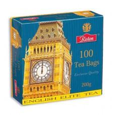 Чай Riston English Elite Tea, черный , 100 пакетиков
