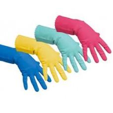 Перчатки латексные повышенной прочности Vileda размер М