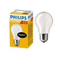 Лампа накаливания Philips, стандартная матовая, 75Вт, цоколь E27