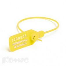Пломба пластиковая номерная, 235мм, 50шт/уп. Желтые