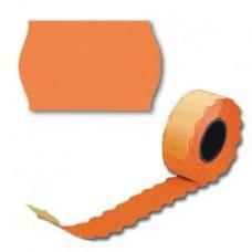 Лента для этикет пистолета 26*16мм волна оранжевая (10 рул/уп.)
