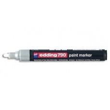 Маркер специальный лаковый Edding Е-790/49 для темных и прозрачных материалов, серебро