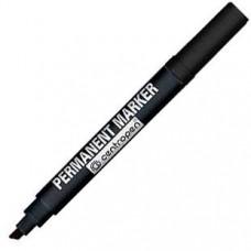 Маркер перманентный Centropen 1-4 мм 8576 скошенный наконечник, черный