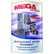 Чистящие салфетки MEGAoffice запасные 100 шт/уп. для пластика