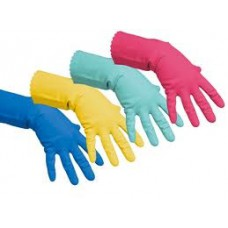 Перчатки латексные повышенной прочности Vileda размер XL