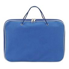 Портфель на молнии с ручками А4 нейлон синяя