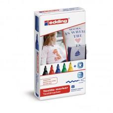 Набор специальных маркеров для ткани Еdding Е-4500 (5шт/уп)