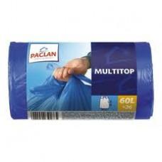Мешки для мусора 35л. (15мкм .30шт/уп.завязки) Paclan MULTI-TOP