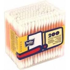Ватные палочки Белла в пластике (200 шт/уп.)