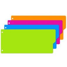 """Разделитель листов полоски,пластиковые,12 листов, 4 цвета, """"Attache Selection"""""""
