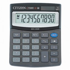 Калькулятор CITIZEN  SDC-810BN  10-разрядный, 124*102мм
